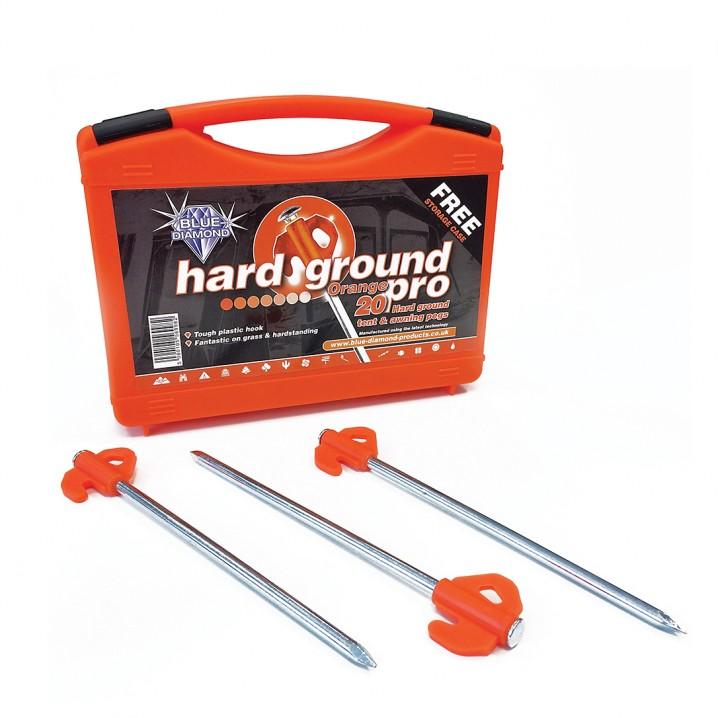 Orange Hard Ground Pegs Pro x 20