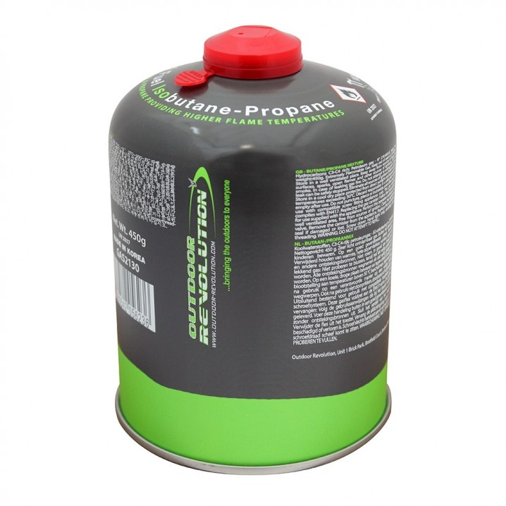 Butane Propane (Mix) 450g Screw Fitting Gas Cannister