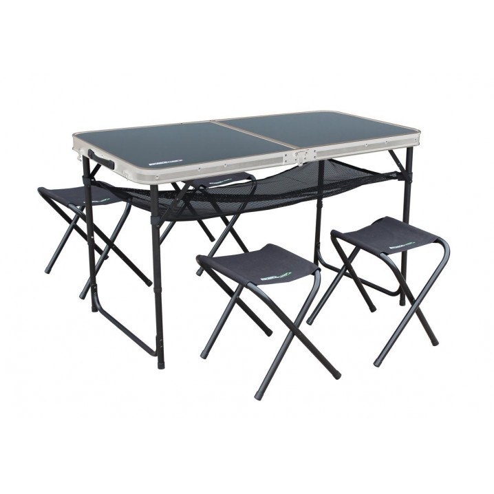 Capri Aluminium Picnic Table and Stool Set
