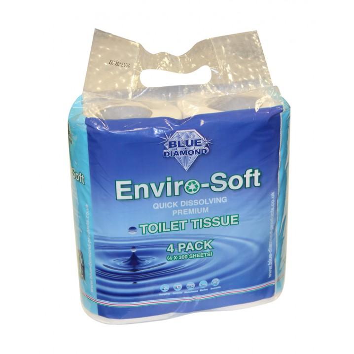 Enviro-Soft Premium Toilet Tissue 4 Pack