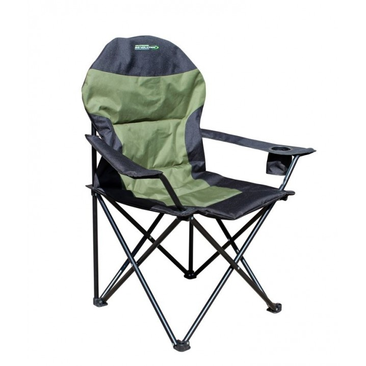 High Back XL Chair Dark Green and Black