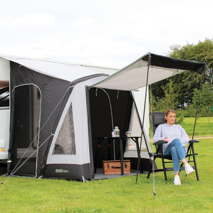 Affordable Lightweight Entry Level Small Family Touring Air Framed Caravan Porch Awning – Hero Shot