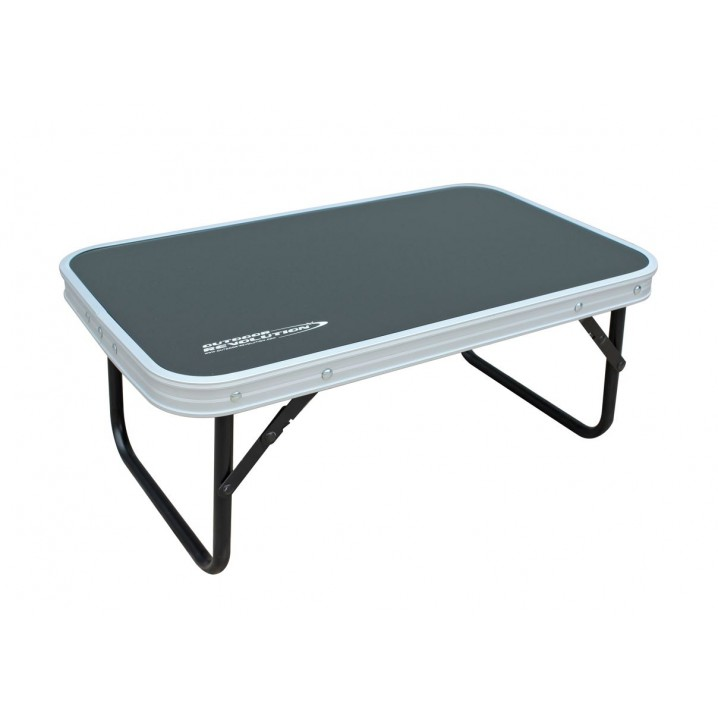 Low Folding Table with Aluminium Top (56 x 34)