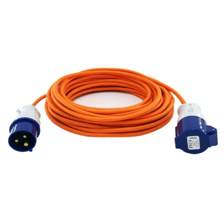 Camping Mains Extension Lead 10m 1.5mm 16A