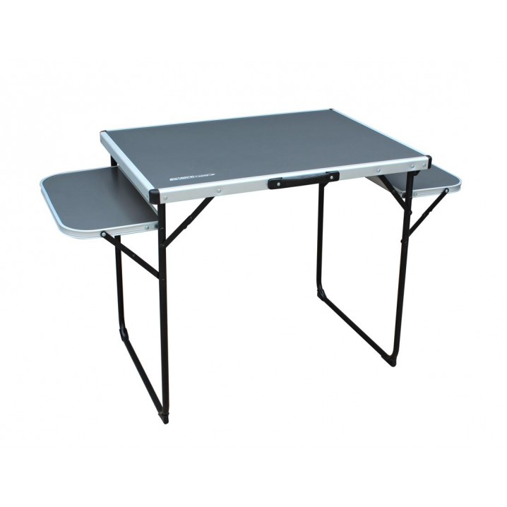 Alu Top Camping Table (130 x 60cm) with folding side tables