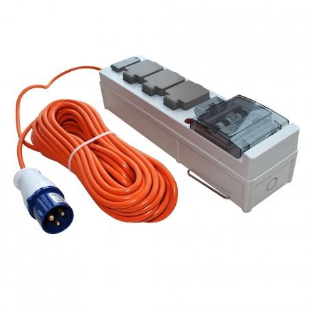 Mobile Mains Power Unit USB 18m Cable